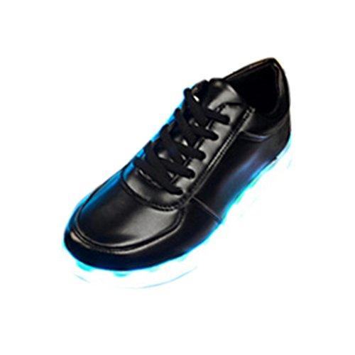 Baskets LED la de d'USB Avec de Décontractées Charge de Mode zycShang Unisexe Sport Unisexes Noir Chaussures Bascule dqHXOxwv