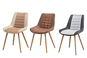 Folkbury Nordic Style Stuhl Esszimmer Skandinavischen Stühle Aus Metall  Stühle Für Esszimmer Wohnzimmer Küche Beige