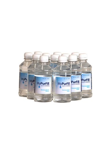 MyPurFill Demineralized Water 12 oz 12 Bottles - for MyPurMist Steam Inhaler