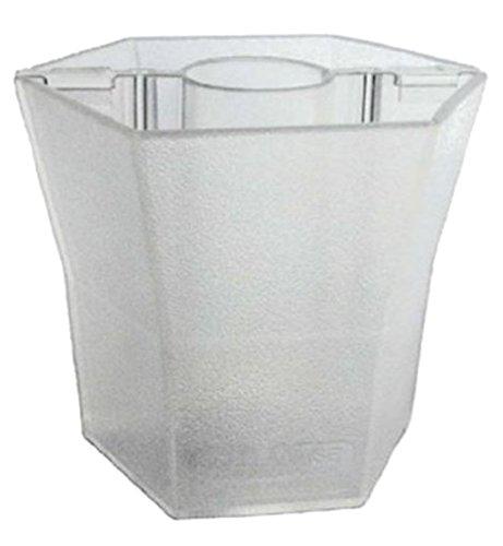 Patio Umbrella Planter Vase Centerpiece, by Brella Vase (Crystal Translucent) (Umbrella Table Planter)