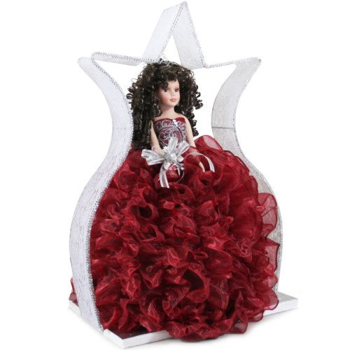Quinceanera Ruffle Doll Girls Birthday Party Favor Q2063 (Add arch to doll) by Quinceanera (Image #1)