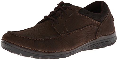 Rockport Men's RocSports Lite ZoneCush Moc Toe Oxford Dark Brown 12 W (EE)