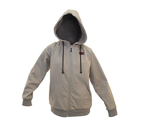 Comfortwear Women's Zip Up Super Heated Hoodie (Large)