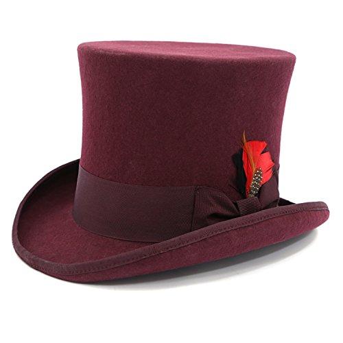 Ferrecci L Premium Burgundy Top Hat