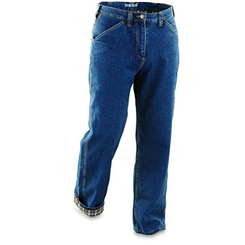 Guide Gear Men's Flannel-Lined Carpenter Jeans, Stonewash, W36 L30