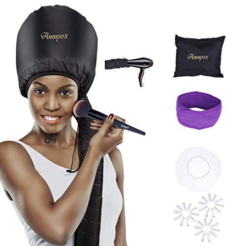 Anmyox Hooded Hair Dryer, Fast Bonnet Hood Hair Drying Attachment Home Hair Drying Cap for Hand-held Blowing Hair Dryers,Perfect for Hair Conditioning Treatments. (Soft Dryer Bonnet)