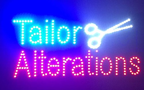 """24""""X12"""" Tailor Alterations Sign, Super Bright LED Open Si..."""