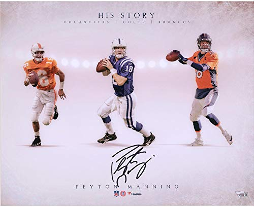 - Peyton Manning Tennessee Volunteers/Denver Broncos/Indianapolis Colts Autographed 16