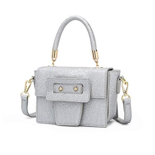 Lxf20 Sac à bandoulière pour femme - Sac à bandoulière à la mode - Sac à main en PU Petit sac carré Silver