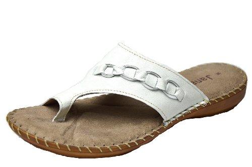 Sabot Blanc Femme Sandals Jana Cassé blanc OApqqn7