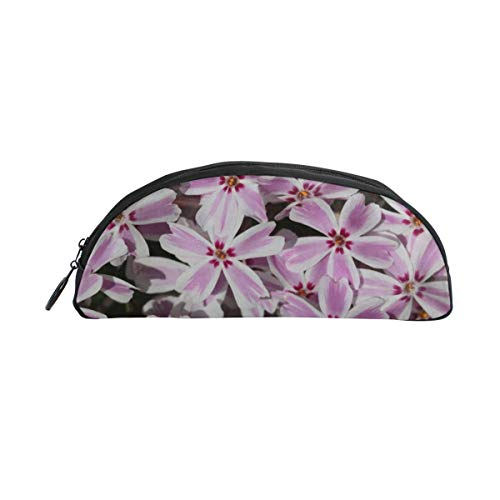 HengZhe Pencil Case Pink Flowers Pen Bag Cosmetic Pouch Students Stationery Holder Office Organizer]()