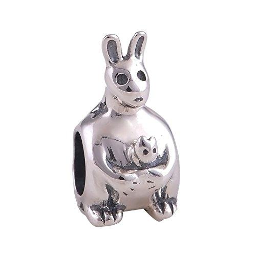 Everbling Kangaroo 925 Sterling Silver Bead Fits Pandora Charm Bracelet