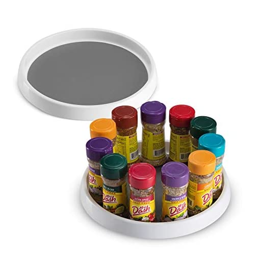 Kitchen 2 Pack Non Skid Lazy Susan Turntable Cabinet Organizer – 360 Degree Rotating Spice Rack – 12 Inch Spinning Pantry… lazy susans
