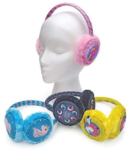 Childrens Unicorn Fluffy Plush Earmuffs