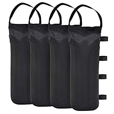 Eurmax Heavy Duty Outdoor Pop Up Canopy Tent Gazebo Weight Sand Bag Anchor Kit 4 Pack (Single Black) : Garden & Outdoor