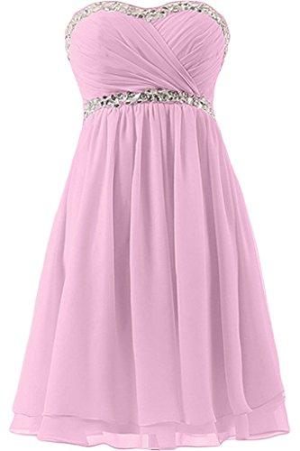 Missdressy - Vestido - plisado - para mujer rosa 34