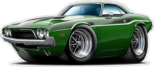 1973 Dodge Challenger WALL DECAL Vintage 3D Car Movable Stickers Vinyl Wall Stickers for Kids Room