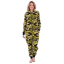 Body Candy Women's Graphic Adult Knit Hooded Onesie Pajama
