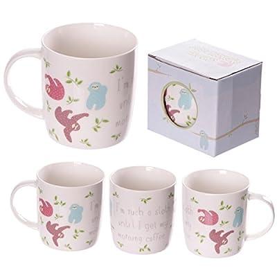 Gifts Xmas New Year Mug178 Bone China Fun Sloth Design Mug - Sloth Novelty Coffee Mugs