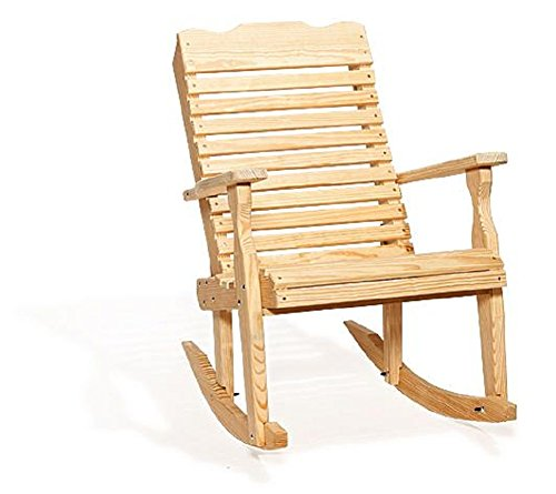 Pine Wood Curve Back Patio Rocking Chair - Curve Rocking Back Chair
