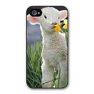GX caso duro del patrón de las ovejas de plástico de diseño precioso para iphone 6