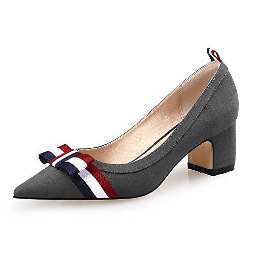 pour Chaussures Plateforme DKFJKI Arc Pompes Suède Grey Tressé à Eau Femmes Confortable Ra5Upq5w