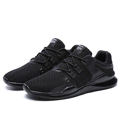 de Baskets Chaussures Sneakers de Gym Chaussures Running Multisports Sports SITAILE Shoes Outdoor Chaussures de Fitness Course Noir Homme Bxq1nP54