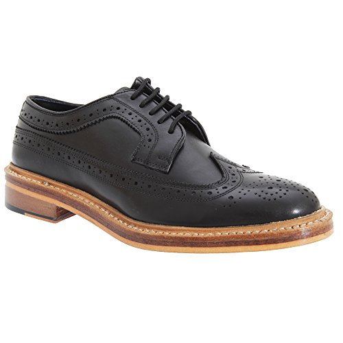 Mens All Leather Kensington Brogue Black Classics Shoes Gibson American Uq7tx5twE