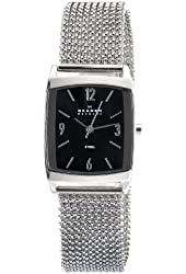 Skagen Women's 691SSSB1 Quartz Black Dial Color Stainless Steel Stretch Watch