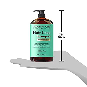 Majestic Pure Hair Loss Shampoo, Offers Natural Ingredient Based Effective Solution, Add Volume & Strengthen Hair, Sulfate Free, 14 Dht Blockers, For Men & Women - 16 Fl Oz 3
