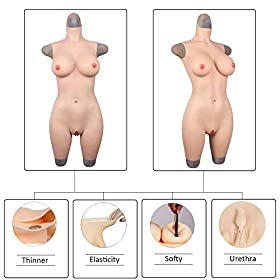 Liifun G Cup Breast Forms Silicone Bodysuit Artificial Fake Vaginal for Transgender Crossdresser