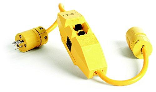 Woodhead 30051-1 Super-Safeway GFCI Plug and Connector, Commercial Duty, NEMA L5-30 Configuration, 12/3 SJTW Cord Type, 30A Current, 120V, 1ft Cord Length