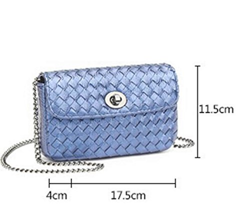 Nuevo Mano-tejida Bolso De Hombro Versión Coreana Manera Mini Cadena Mensajero Pequeño Bolso Cuadrado P