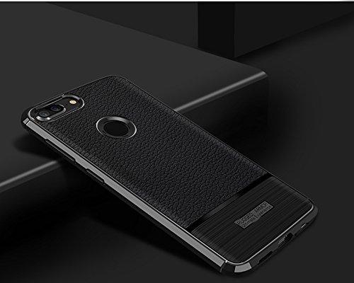 Funda Huawei Honor 9 Lite,Funda Fibra de carbono Alta Calidad Anti-Rasguño y Resistente Huellas Dactilares Totalmente Protectora Caso de Cuero Cover Case Adecuado para el Huawei Honor 9 Lite A