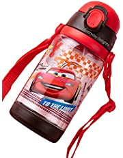 Disney Cars Lightning McQueen Water Bottle Double Covers with Straw and Strap 520ml