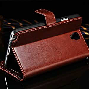 Vintage Wallet With Stand PU Leather Case For Samsung Galaxy Note 3 Neo N7506 Retro Phone Bag Cover With Card Holder 50 pcs/lot --- Color:random colors