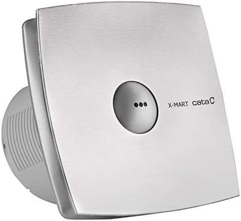 /Ventilator Cata X-Mart 15/Matic INOX/ Silber, 25/W, 220//–/240/V, 50//60Hz, 19,4/cm, 15,8/cm, 19,4/cm