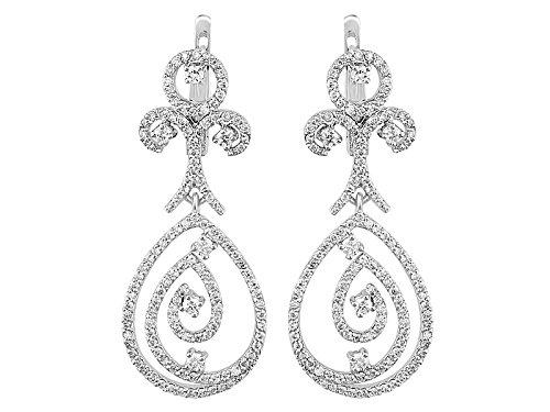 Boucles d'Oreilles Diamants-Femme- or Blanc 206E0003