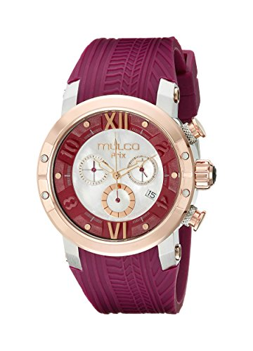 MULCO Women's MW5-3219-523 Prix Tire Analog Display Swiss Quartz Purple Watch