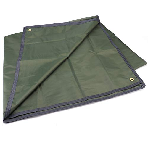 Tebery Waterproof Camping Tarp Mutifunctional Tent Footprint with Drawstring Carrying Bag for Picnic, Hiking -94.5 x 86.7 in
