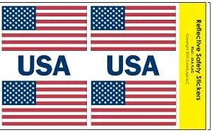 Reflectantes de seguridad pegatinas diseño de la bandera de Estados Unidos: Amazon.es: Coche y moto