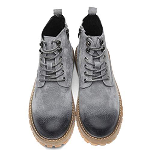 Adulti E Inverno in Gray Lamper Oxford per per Stivali Pelle Classici Stivali Autunno Stivali Martin Stivali Scarpe w6qZxXBRR