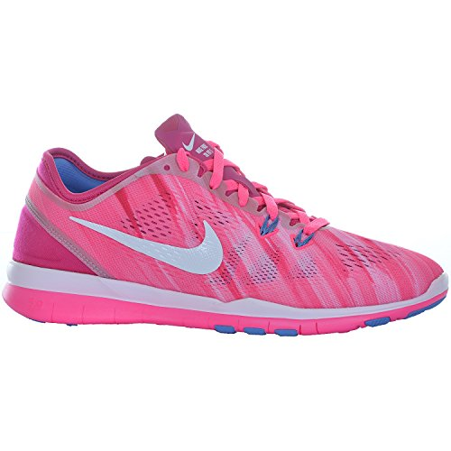 3f571f6f5f10 Women s Nike Free 5.0 TR Fit 4 Print Training Shoe Pink Fire Berry White  Size 8.5 M US - Buy Online in Oman.
