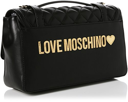gold Pu Gal Nappa Various Women bxht Baguette black 10x17x28 Nero Colors Moschino Bags Borsa Cm oro Quilted Love Xwq1106