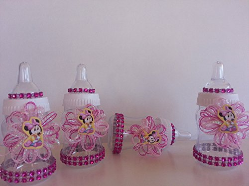 12 Minnie Mouse Pink Fillable Bottles Baby Shower Favors Prizes Girl Decorations by Product789 (Image #3)