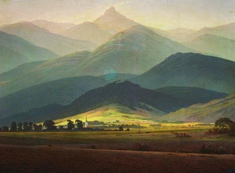 Bond Themed Costumes (Perfect Effect Canvas ,the Best Price Art Decorative Prints On Canvas Of Oil Painting 'Caspar David Friedrich-Landscape From Riesengebirge,1810', 24x33 Inch / 61x83 Cm Is Best For Kitchen Decor And Home Decor And Gifts)