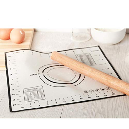 - Hot Sale!DEESEE(TM)Hot Fiberglass Silicone Dough Rolling Baking Mat Pastry Clay Pad Sheet Liner FC (Black)