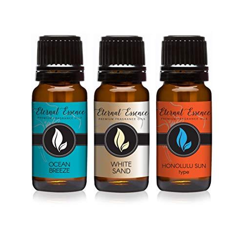 Trio (3) - Ocean Breeze, Honolulu Sun & White Sand - Premium Fragrance Oil Trio - 10ML