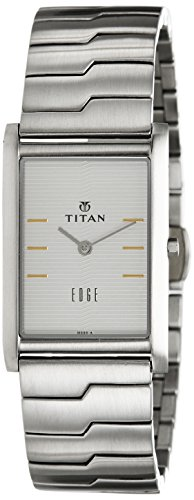 - Titan Men's Edge Quartz Watch with Stainless-Steel Strap, Silver, 22 (Model: 1043SM14)