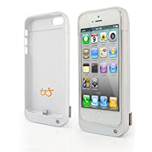 4200mAh External Backup Battery Charger Power Pack Case with Viewing Stand For IPHONE 5/ 5S/ 5C - White